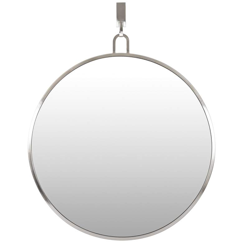 "Varaluz Casa Stopwatch Brushed Nickel 30"" Round Wall Mirror"