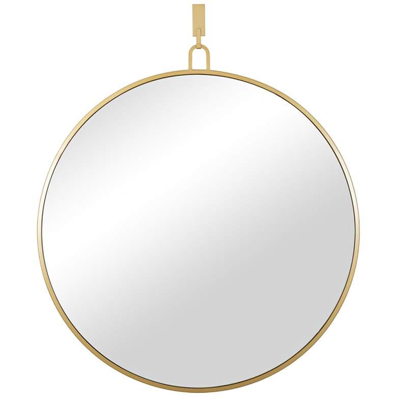 "Varaluz Casa Stopwatch Gold 40"" Round Oversized Wall Mirror"