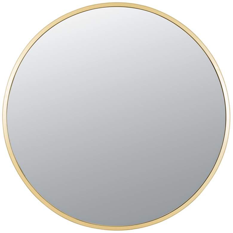 """Varaluz Casa Cottage Gold 30"""" Round Wall Mirror"""