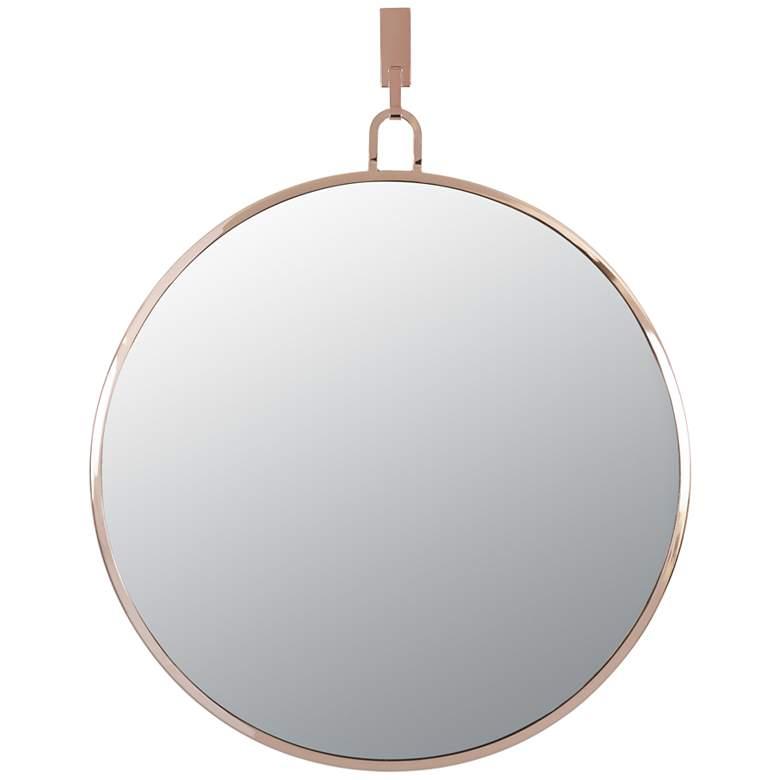 "Varaluz Casa Stopwatch Rose Gold 30"" Round Wall Mirror"