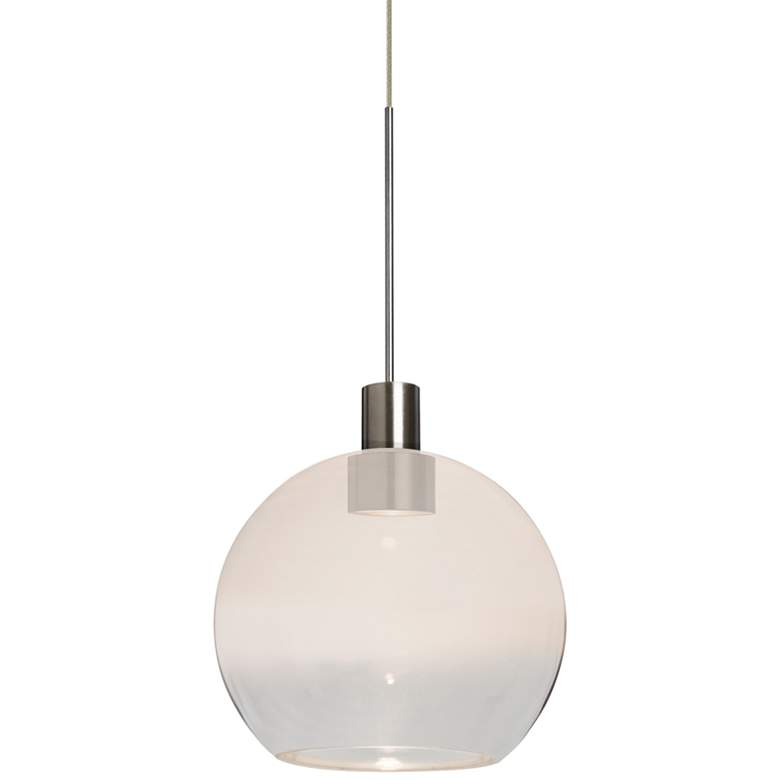 "Besa Newton 6 5 3/4""W White and Clear Glass LED Mini Pendant"