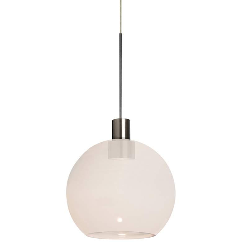 "Besa Newton 6 5 3/4"" Wide Milky White Glass LED Mini Pendant"