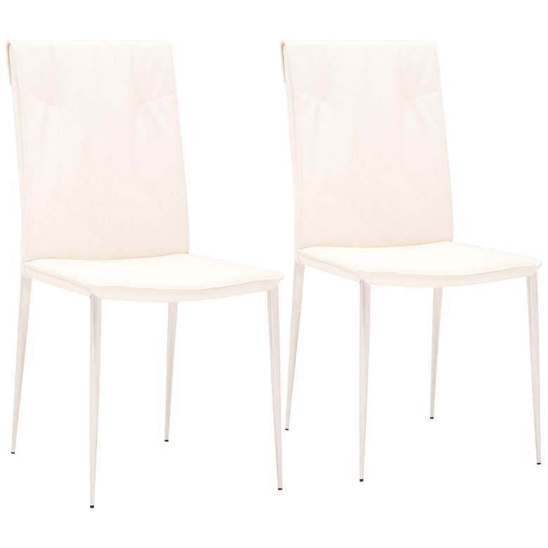 Lane Shell Synthetic Leather Dining Chairs Set of 2