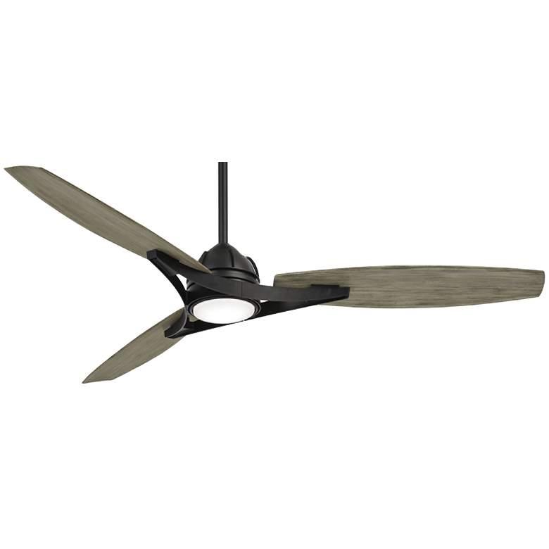 "65"" Minka Aire Molino Coal Wet Outdoor LED Smart Ceiling Fan"