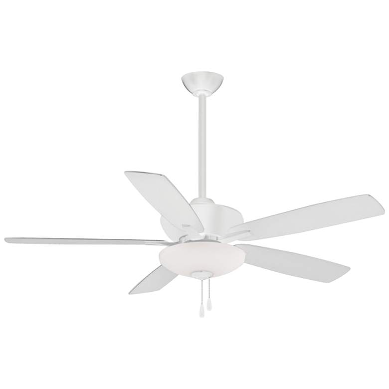 """52"""" Minka Aire Minute Flat White Indoor LED Ceiling Fan"""