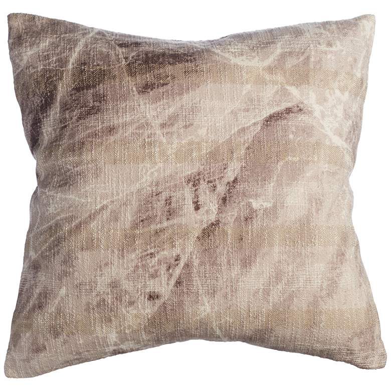 """Gray Marble 22"""" Square Throw Pillow"""