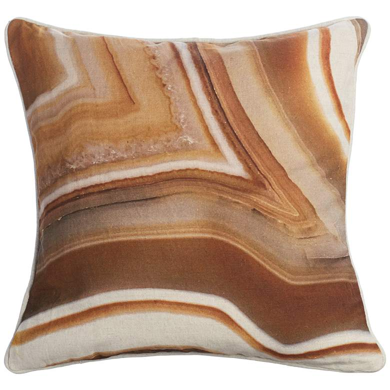 """Rust Agate Abstract 18"""" Square Throw Pillow"""