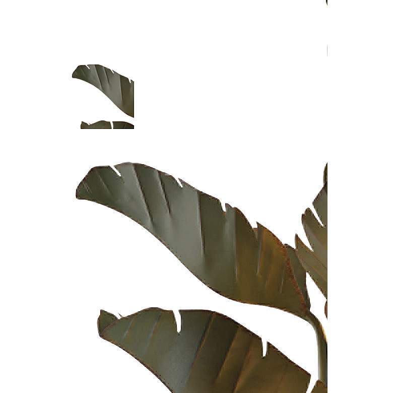 "Varaluz Banana Leaf 35"" Wide Natural Green Metal Chandelier"