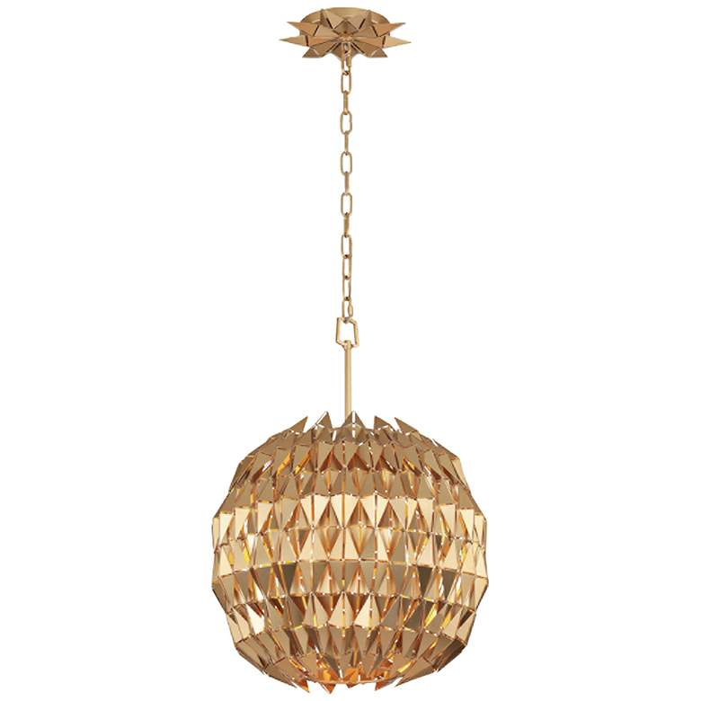 "Varaluz Forever 18"" Wide French Gold Globe Pendant Light"