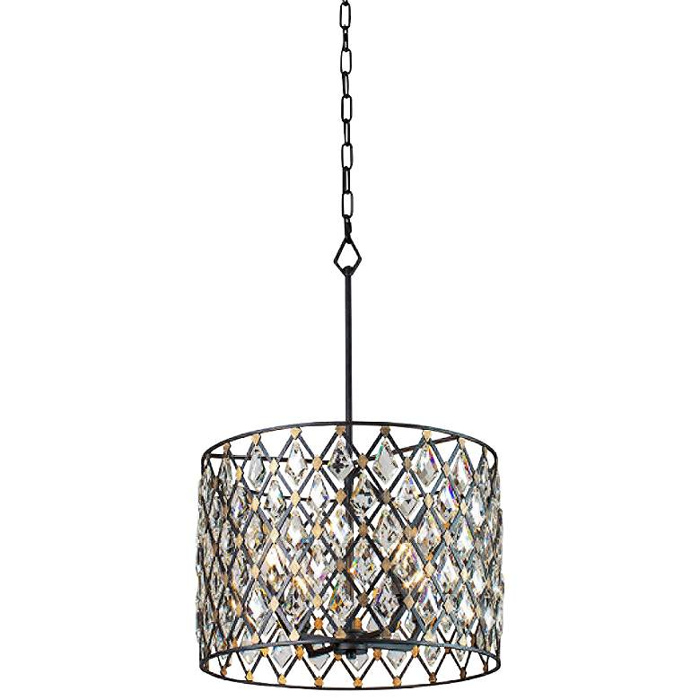 "Varaluz Windsor 18""W Carbon and Gold 4-Light Pendant Light"