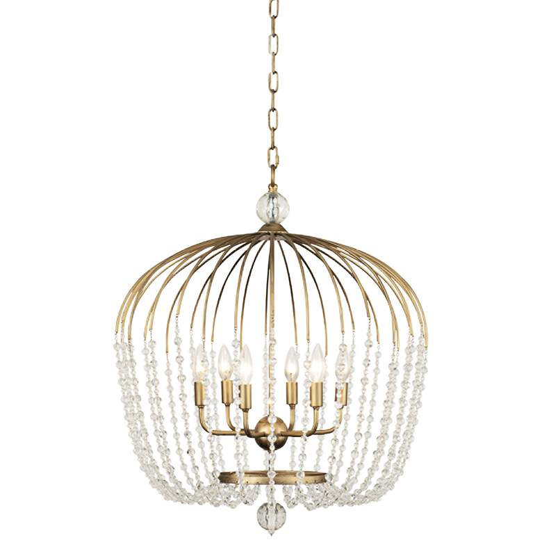 "Varaluz Voliere 24 1/2""W Havana Gold 6-Light Pendant Light"