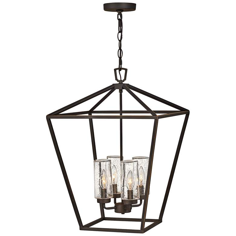 "Alford Place 17""W Bronze 4-Light Outdoor Foyer Chandelier"