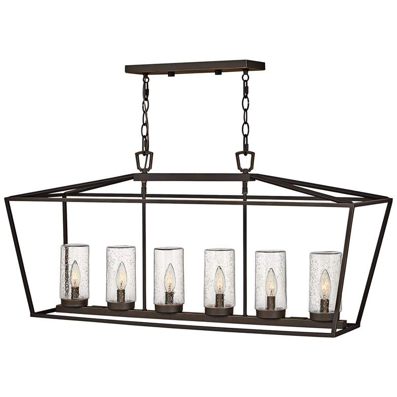 "Alford Place 40""W Bronze 6-Light Outdoor Island Chandelier"