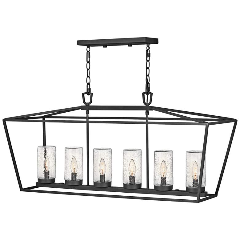 "Alford Place 40""W Black 6-Light Outdoor Island Chandelier"