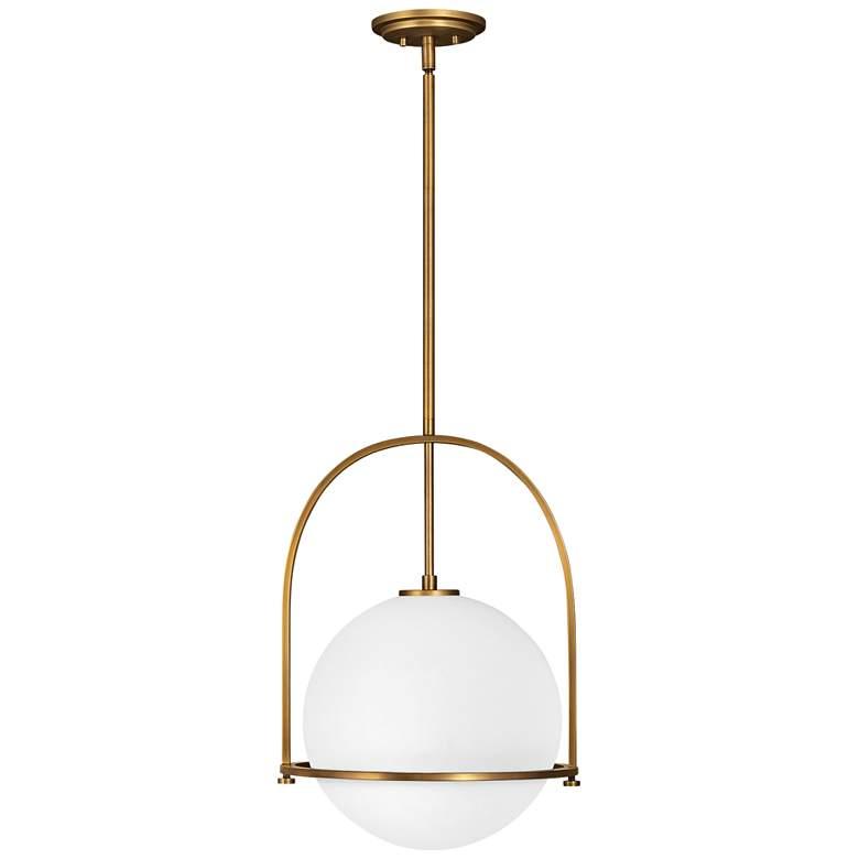 "Hinkley Somerset 15 1/2"" Wide Heritage Brass Pendant Light"
