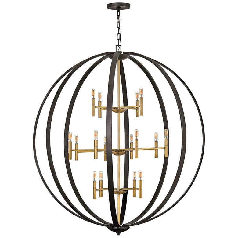 "Hinkley Euclid 52""W Spanish Bronze 16-Light Foyer Chandelier"