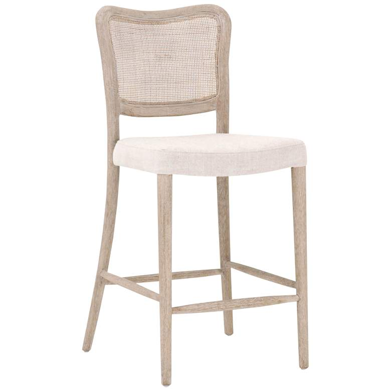 "Cela 25"" Bisque and Natural Gray Counter Stool"