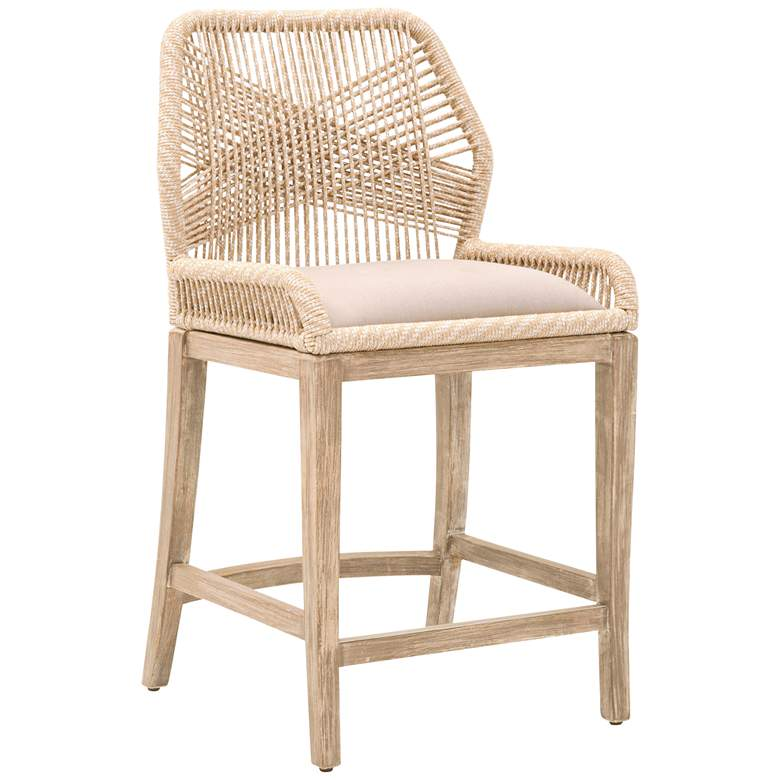 """Loom 26"""" Sand Rope and Stone Wash Counter Stool"""