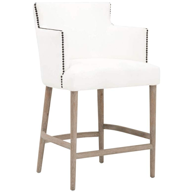 """Marcelle 26"""" LiveSmart Peyton-Pearl Counter Stool"""