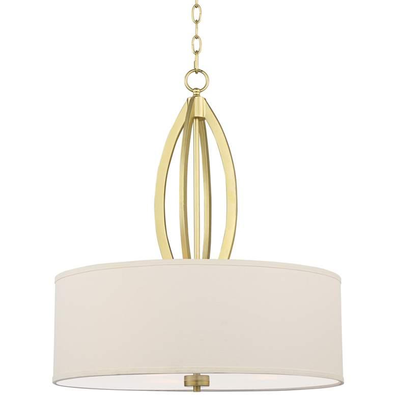 "Anora 22"" Wide Soft Gold 3-Light Pendant"