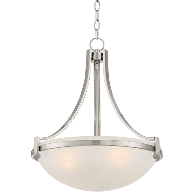 "Mallot 20"" Wide Bronze Frosted Glass Bowl Pendant Light"