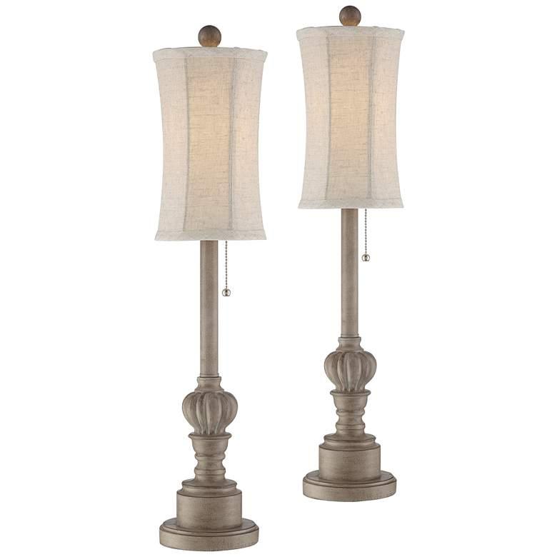 Bertie Natural Traditional Buffet Lamps Set of 2