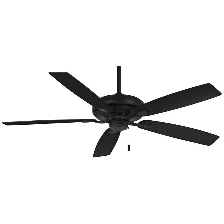 "60"" Minka Aire Watt Coal Black Pull Chain Ceiling Fan"