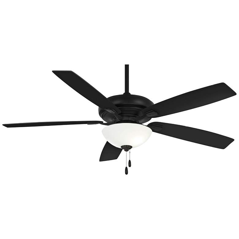 "60"" Minka Aire Watt II Coal Black Pull Chain LED Ceiling Fan"