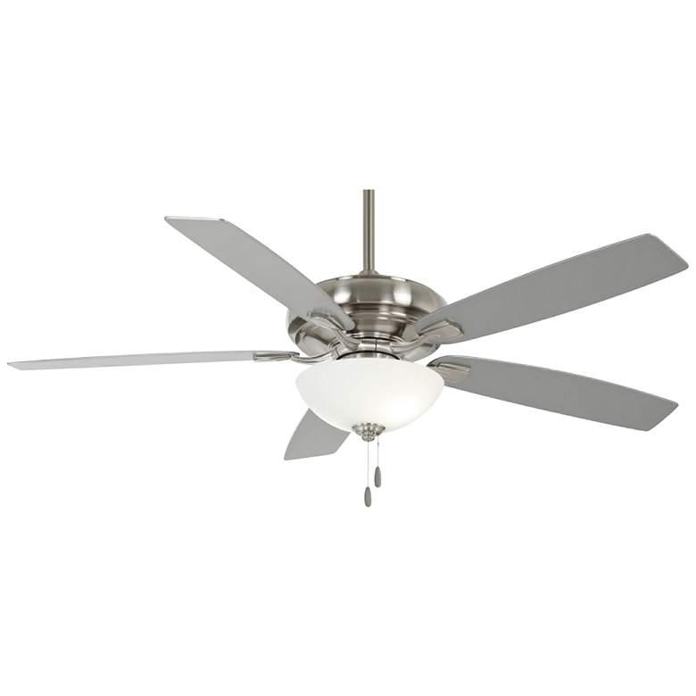 """60"""" Minka Aire Watt II Brushed Nickel LED Ceiling Fan"""