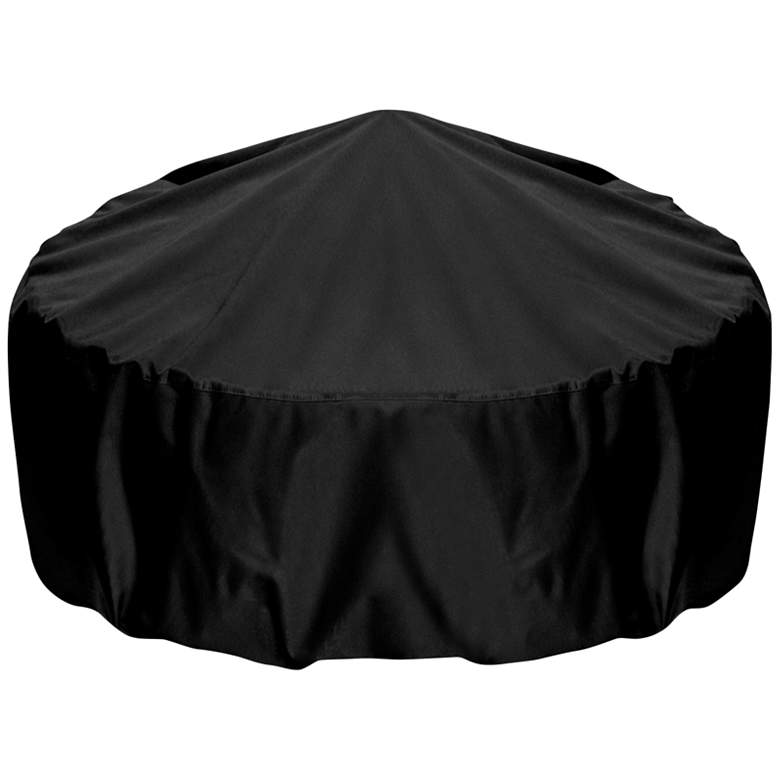 """Two Dogs Designs 36"""" Black Outdoor Fire Pit Cover"""