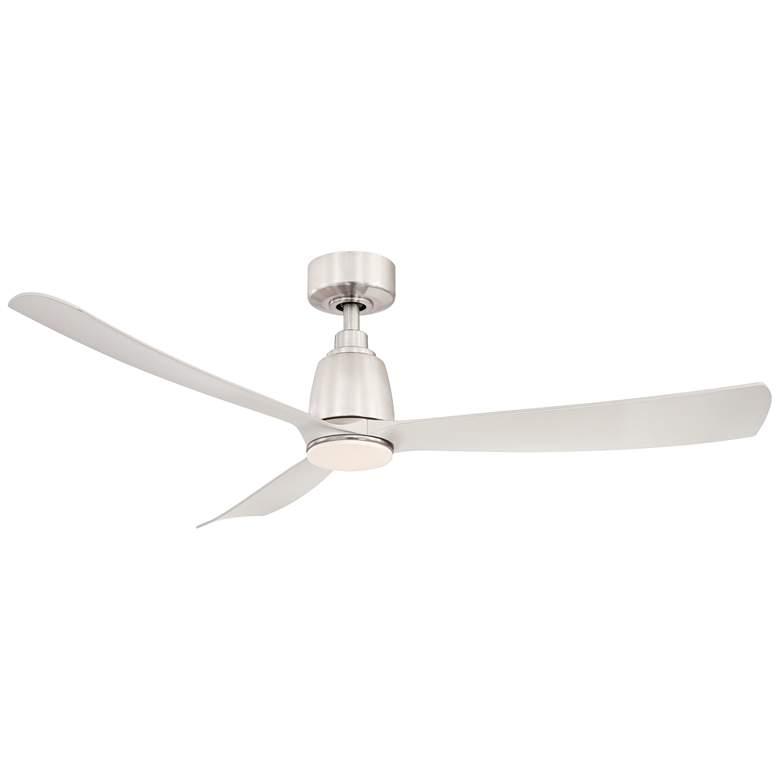 "52"" Fanimation Kute Brushed Nickel Damp LED Ceiling Fan"