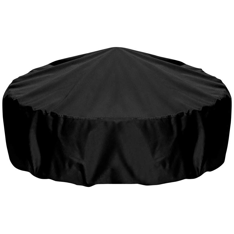 """Two Dogs Designs 80"""" Black Outdoor Fire Pit Cover"""
