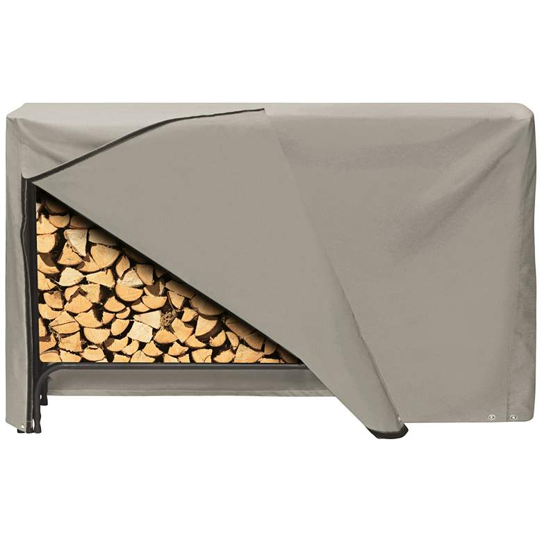 """Two Dogs Designs 96"""" Khaki Outdoor Log Rack Cover"""
