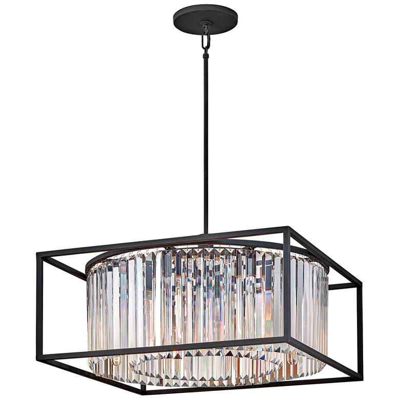 "Hinkley Giada 24"" Wide Black and Crystal Pendant"