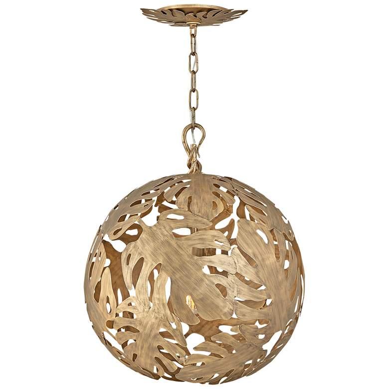 """Hinkley Botanica 24"""" Wide Burnished Gold Orb Pendant"""