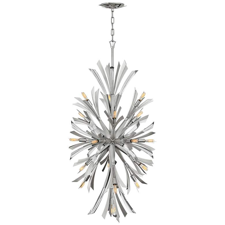 "Hinkley Vida 24"" Wide Glacial Metal 19-Light Pendant"