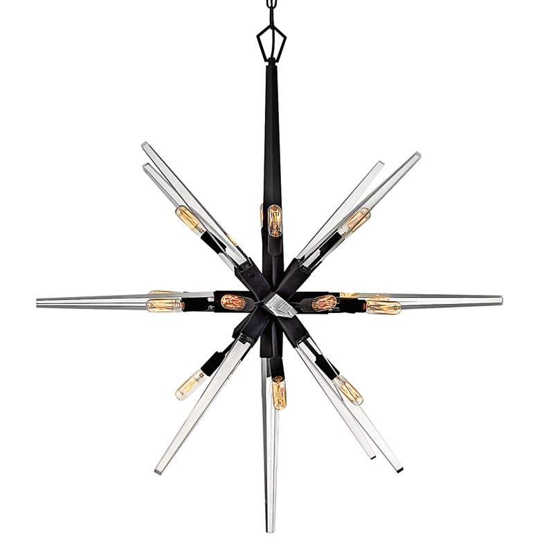"Hinkley Ariel 36""W Black 16-Light Starburst Pendant Light"