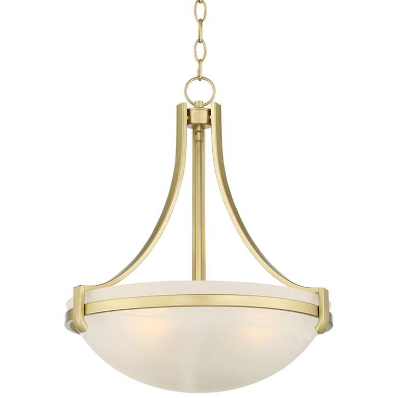 "Mallot 20"" Wide Soft Gold Glass Bowl Pendant Light"