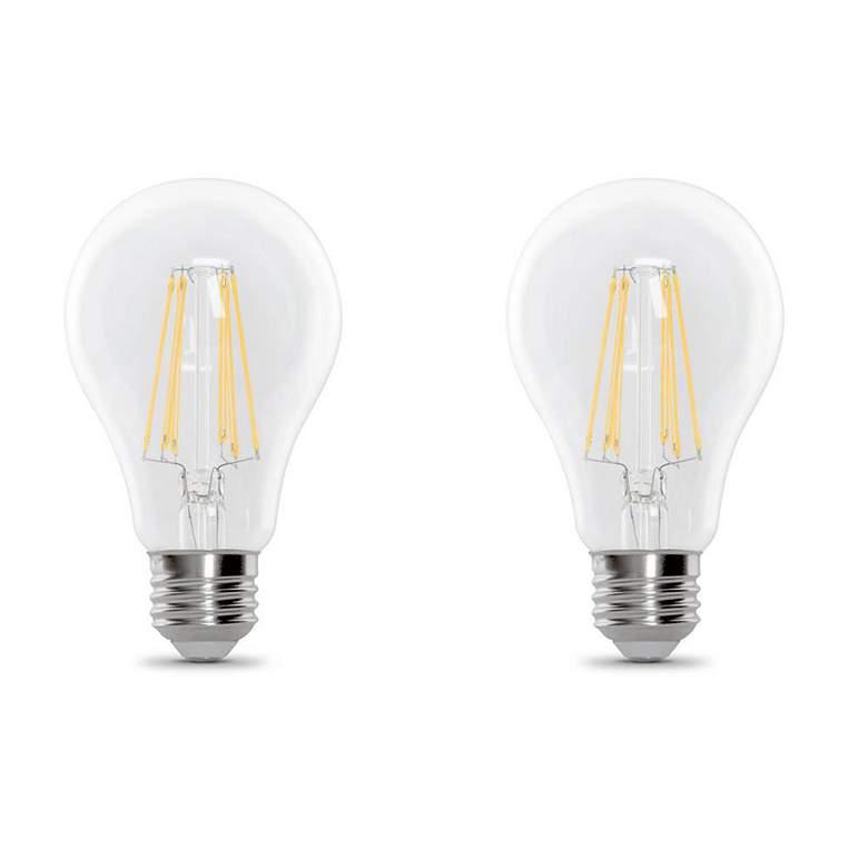 60W Equivalent 9W E26 A19 LED Filament Bulbs 2-Pack