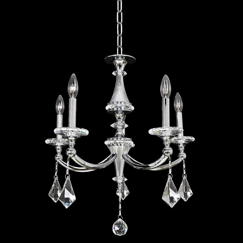 "Allegri Floridia 23"" Wide Chrome 5-Light Crystal Chandelier"