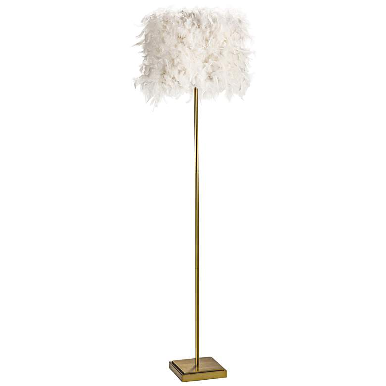 Regina Andrew Design Jasmine Natural Brass Stem Floor Lamp