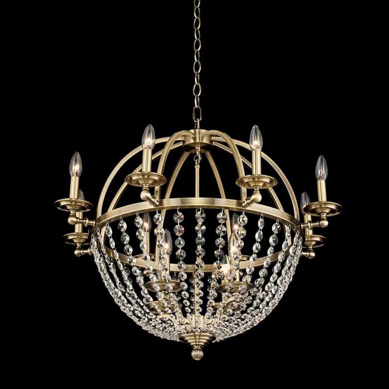 "Allegri Pendolo 30""W Gold 12-Light Orb Crystal Chandelier"