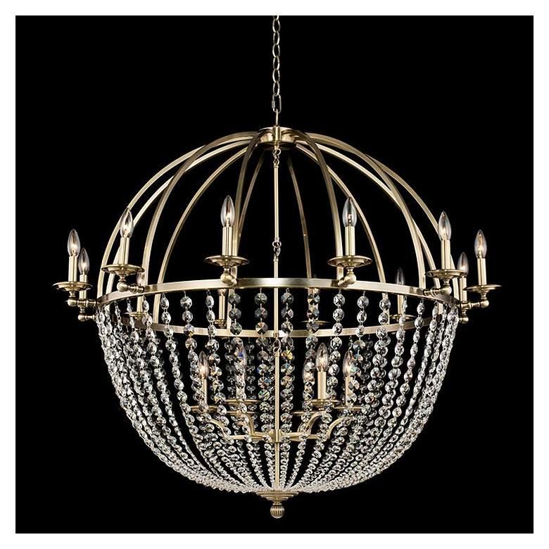 "Allegri Pendolo 44""W Gold 18-Light Orb Crystal Chandelier"