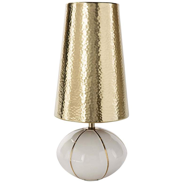"Roland 17 1/2"" High Polished Brass Accent Table Lamp"