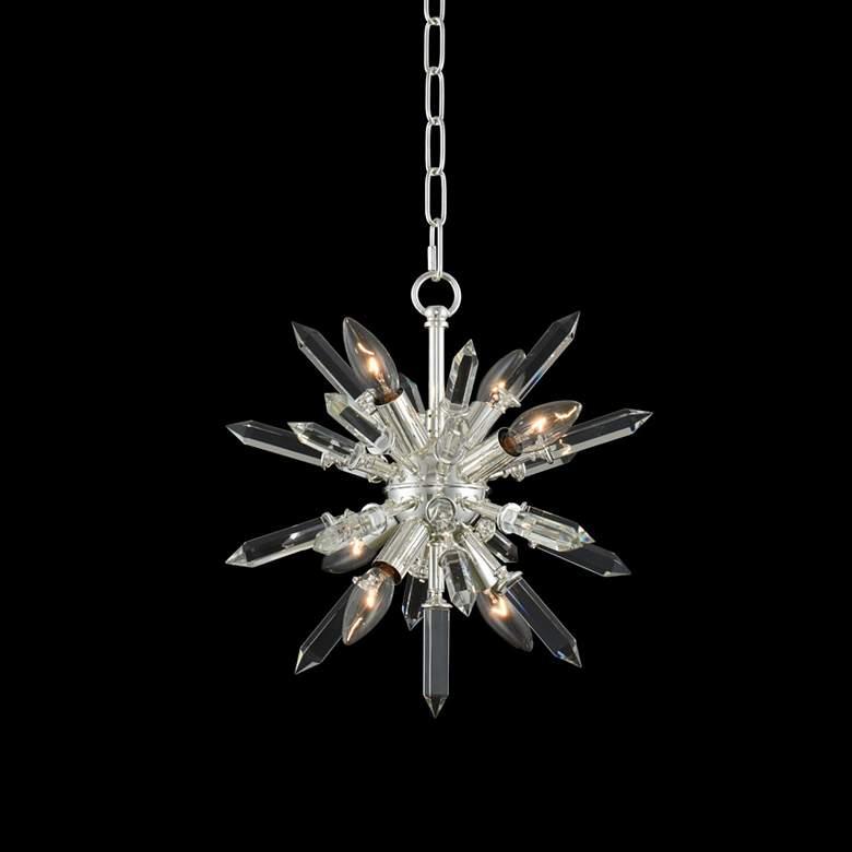 "Allegri Angelo 14"" Wide Silver 6-Light Crystal Pendant Light"