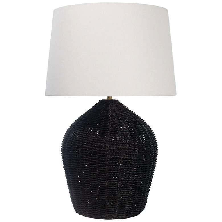 Regina Andrew Design Georgian Black Rattan Table Lamp