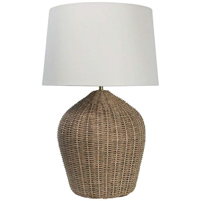 Regina Andrew Design Georgian Natural Rattan Table Lamp