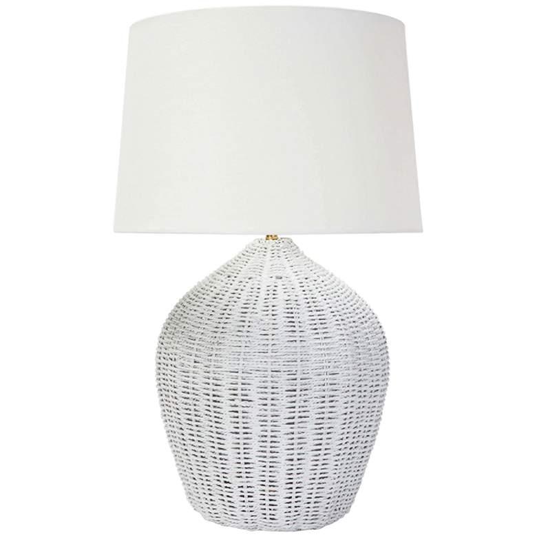 Regina Andrew Design Georgian White Rattan Table Lamp