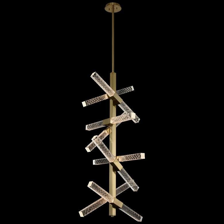 """Allegri Apollo 22""""W Gold 16-Light LED Foyer Pendant Light"""