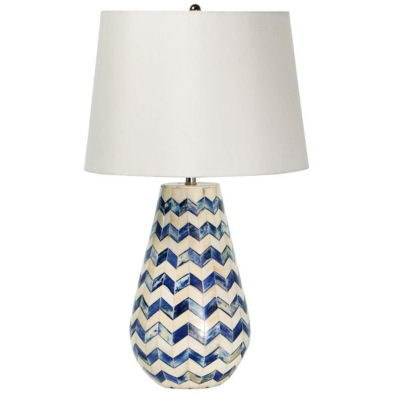Regina Andrew Design Cassia Chevron Blue Accent Table Lamp